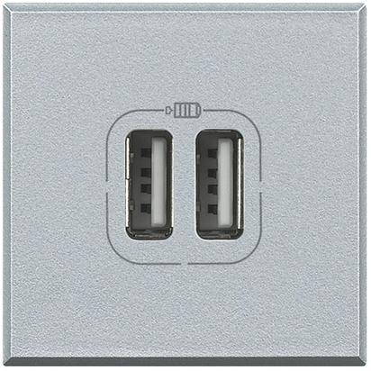 AXOLUTE - CARICATORE USB 2P 24 00MA 5V TECH - BTICINO LEGRAND HC4285C2