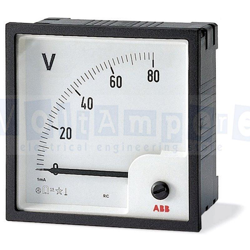 VLM-2-400/72 VOLTMETRO ANALOGICO - ABB SACE EG 483 0