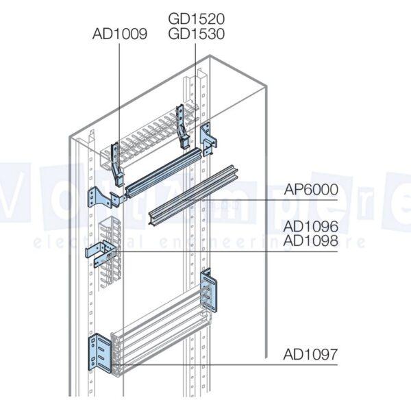 GUIDA DIN PASSO 150/200MM L36 MOD.DIN - ABB SACE GD1530