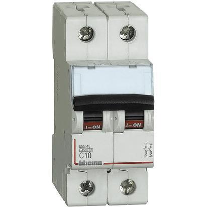 BTDIN45 - MAGNETOT 2P CURVA C10A 4,5KA - BTICINO LEGRAND FA82C10