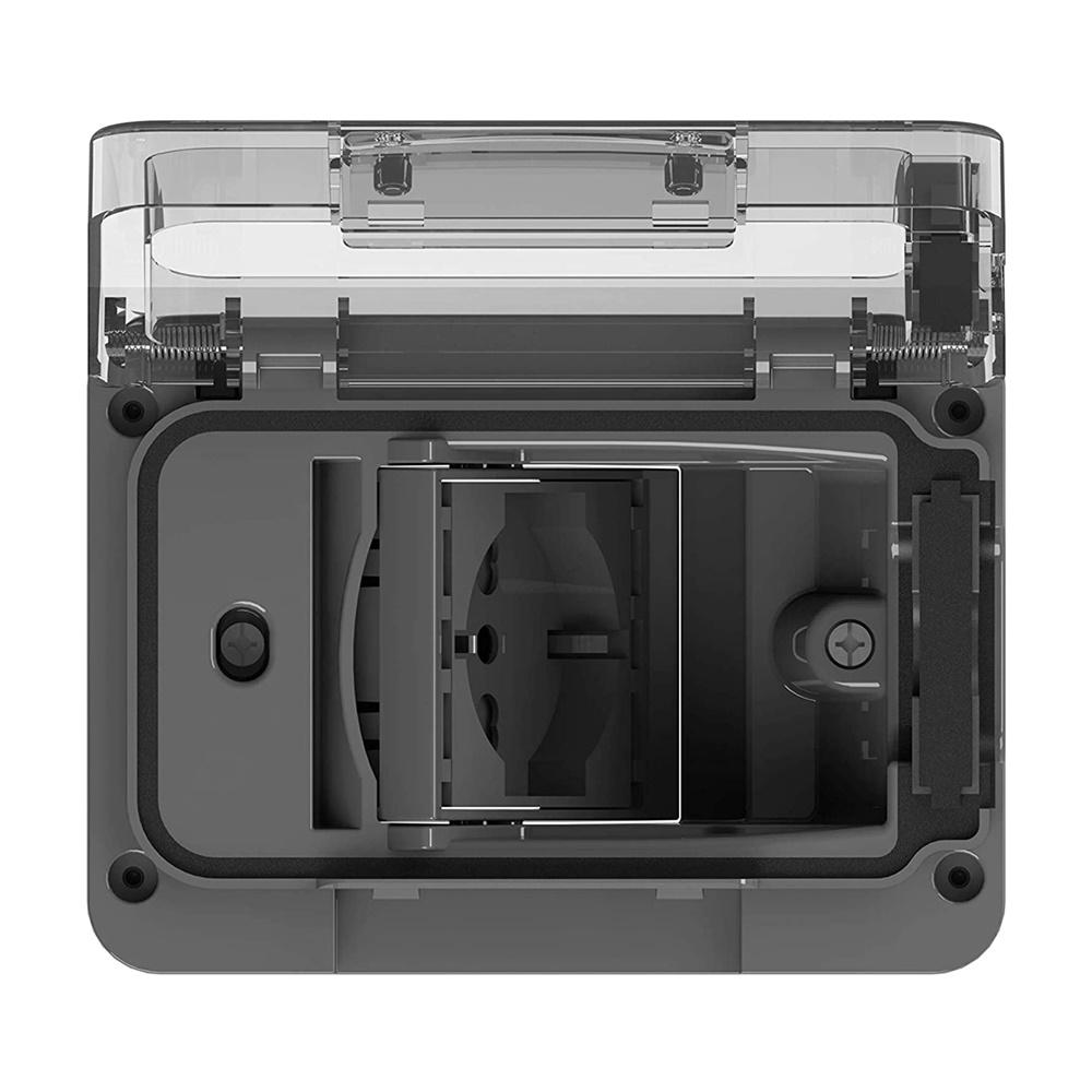 Presa Impermeabile da Esterno per Scatola da Incasso Tipo 503 con Schuko Bivalente, Antracite - 4 BOX SRL 4B.W.03.015