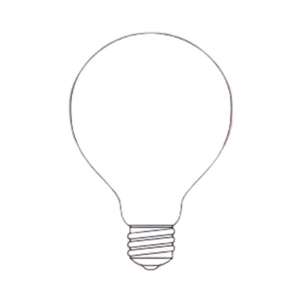 LAMPADA FORMA GLOBOLUX 100W E27 OPALE BEGHELLI - COD. BEG55609
