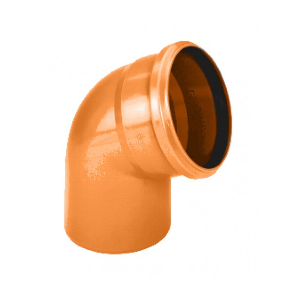 Curva pvc con guarnizione diametro 100 gradi 15 - COD. IDFCU15100