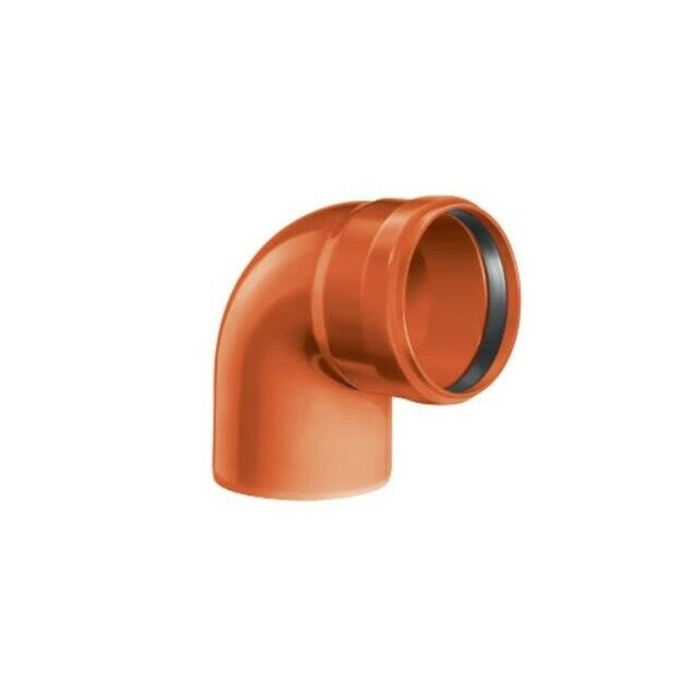 Curva pvc con guarnizione diametro 100 gradi 87 - COD. IDFCU87100