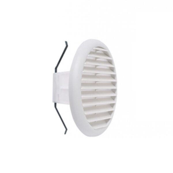 Griglia circolare universale in plastica con molla reclinabile a 90° Bianca - COD. VECGR80/125AB