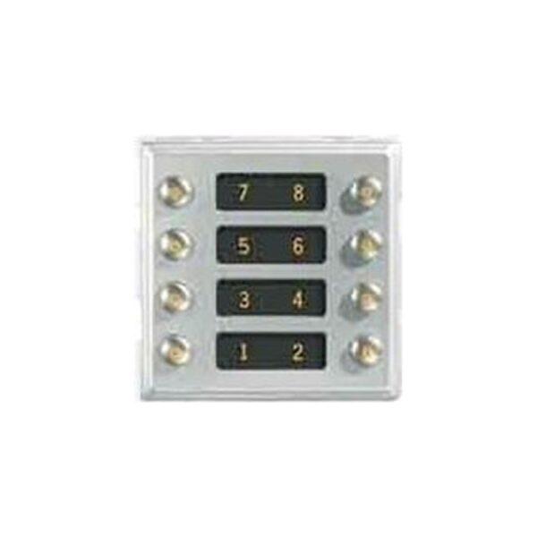 Modulo con 8 pulsanti su 2 file Sinthesi - URMET 1145/18