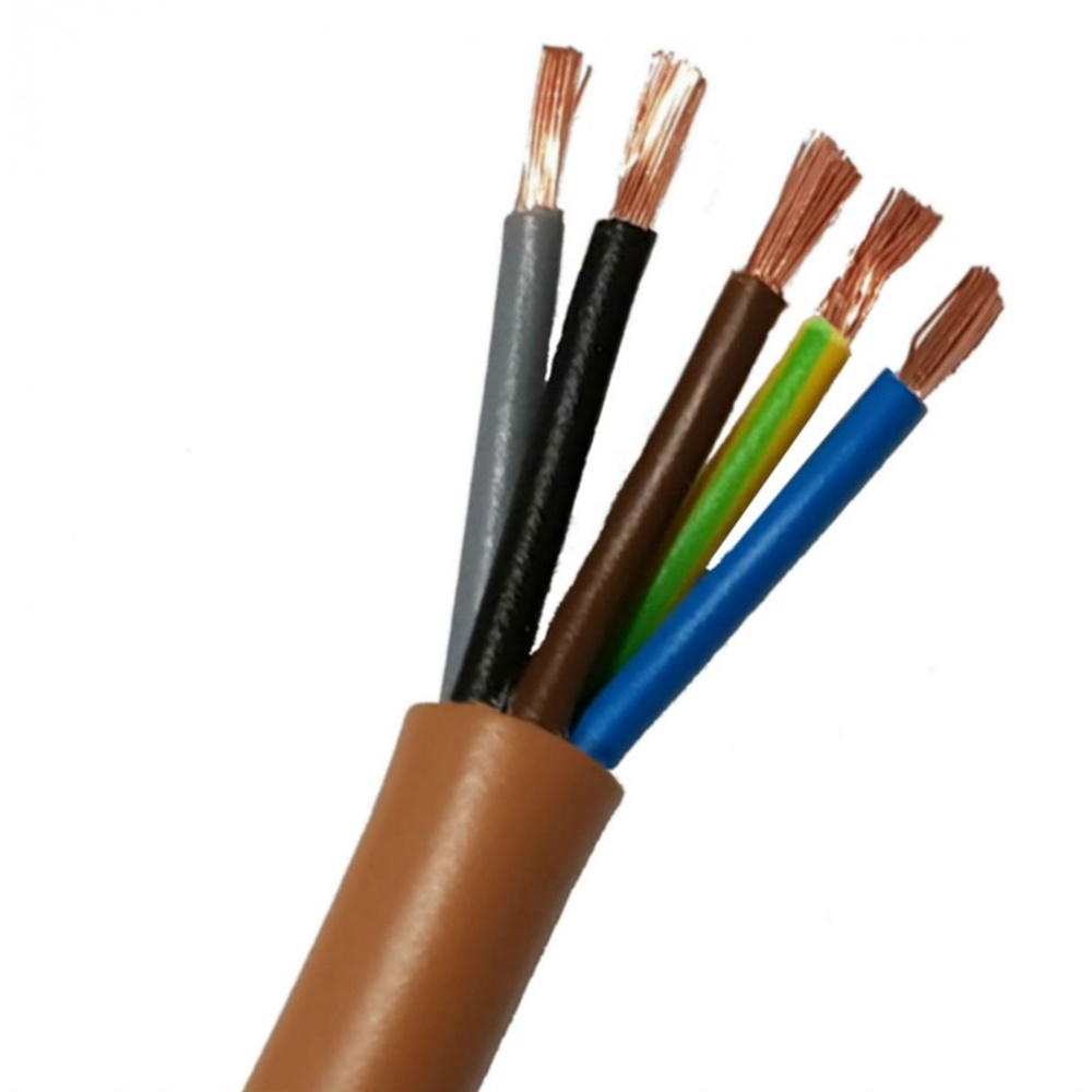 Cavo isolato con PVC di qualità S18 sotto guaina di PVC di qualità R18 FS18OR18 300/500V 5G1,5 - 1 metro - CAVI FS18OR18 (EX FROR) FS5X1.5GV