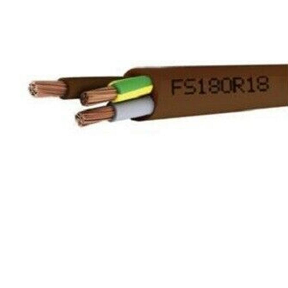 Cavo isolato con PVC di qualità S18 sotto guaina di PVC di qualità R18 FS18OR18 300/500V 3G1,5 - 1 metro - CAVI FS18OR18 (EX FROR) FS3X1.5GV