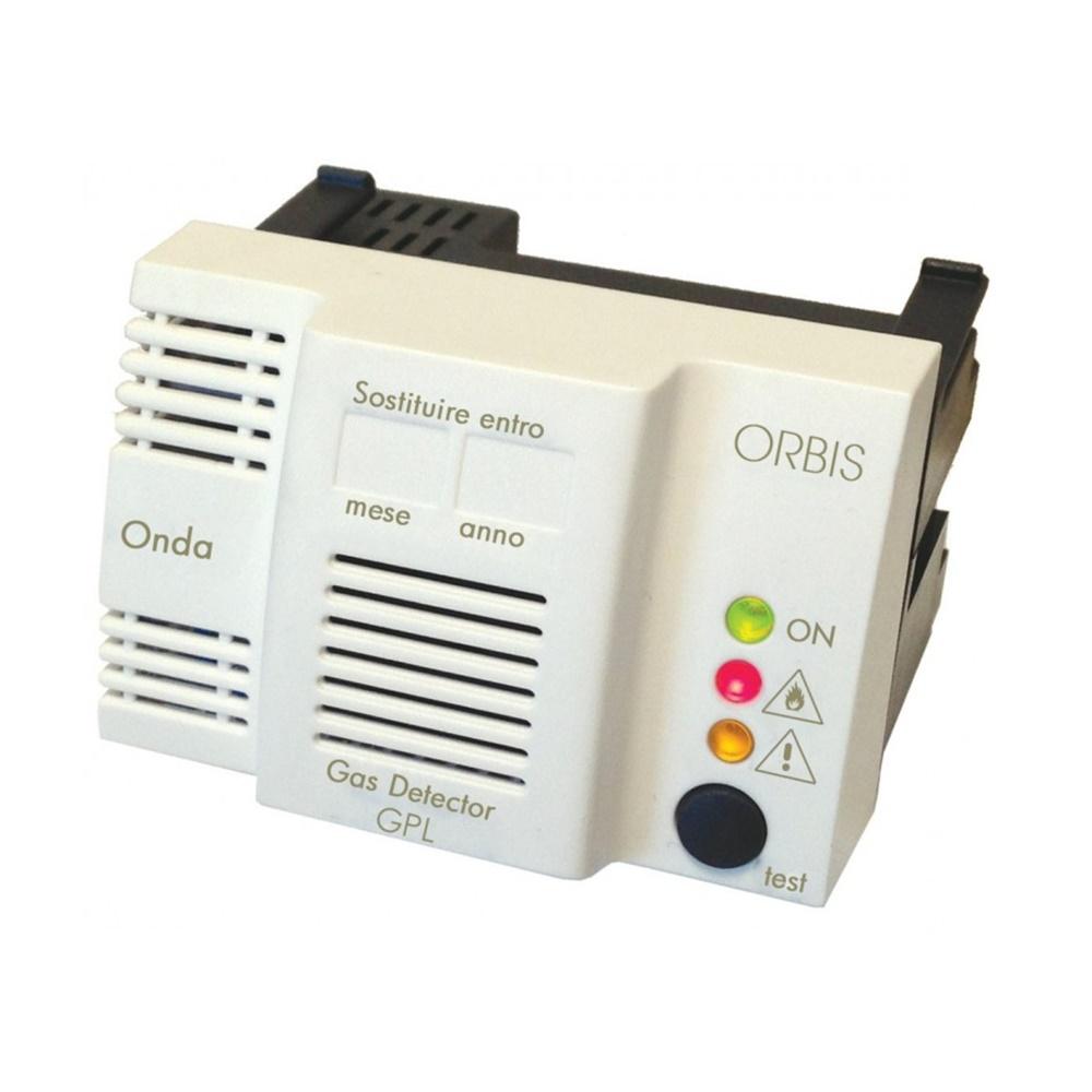 Rivelatore di gas metano da incasso con sensore di tipo catalitico e uscita relé - ORBIS OB510000