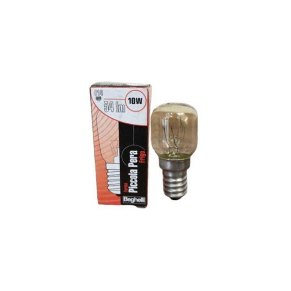 Lampada per frigo incandescenza pera 54 Lumen 10W 230V E14 - BEGHELLI 55805