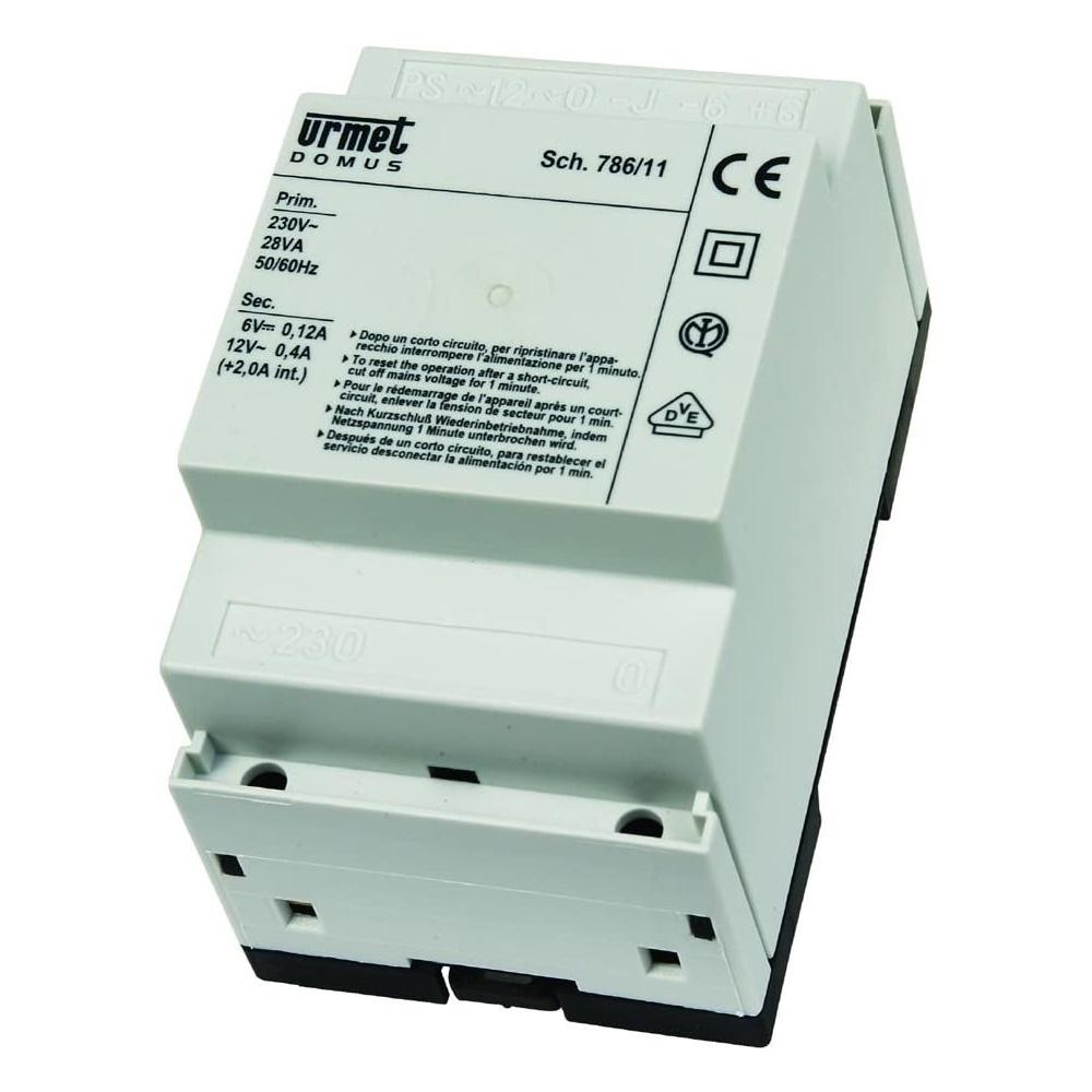 Alimentatore citofonico 28VA-230V per impianti audio 4+N Con Generatore Di Nota - URMET 786/11