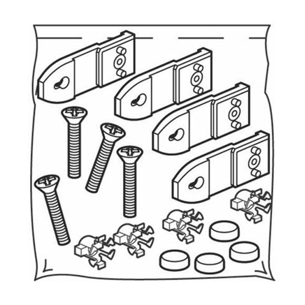 Kit di 4 piastre per il fissaggio a muro dei quadri da parete in plastica LDX-P - BTICINO LEGRAND 93000FMPL