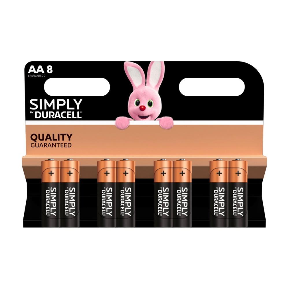 Pile Batterie Simply Alcalina Stilo 8 Pezzi Mn 1500 - DURACELL DU032