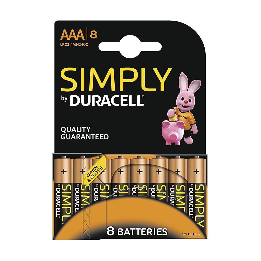 Pile Batterie Simply Alcalina MiniStilo 8 Pezzi Mn 2400 - DURACELL DU033