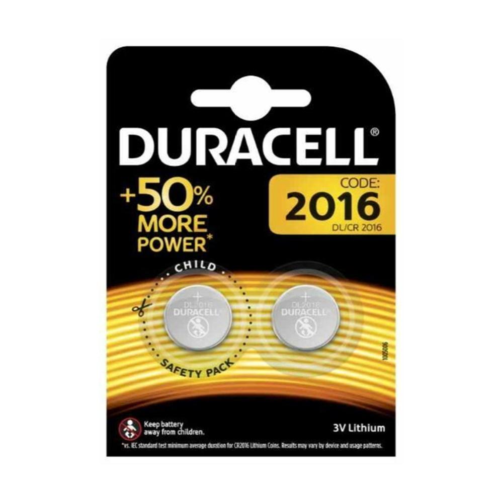 Batterie Electronics CR2016 Blister 2 Pezzi - DURACELL DU20B2