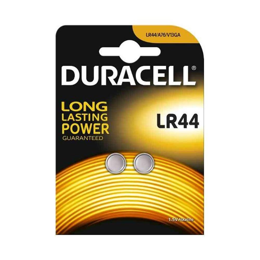 Batteria a Bottone 1,5V 2 pezzi Blister LR44 - DURACELL DU23