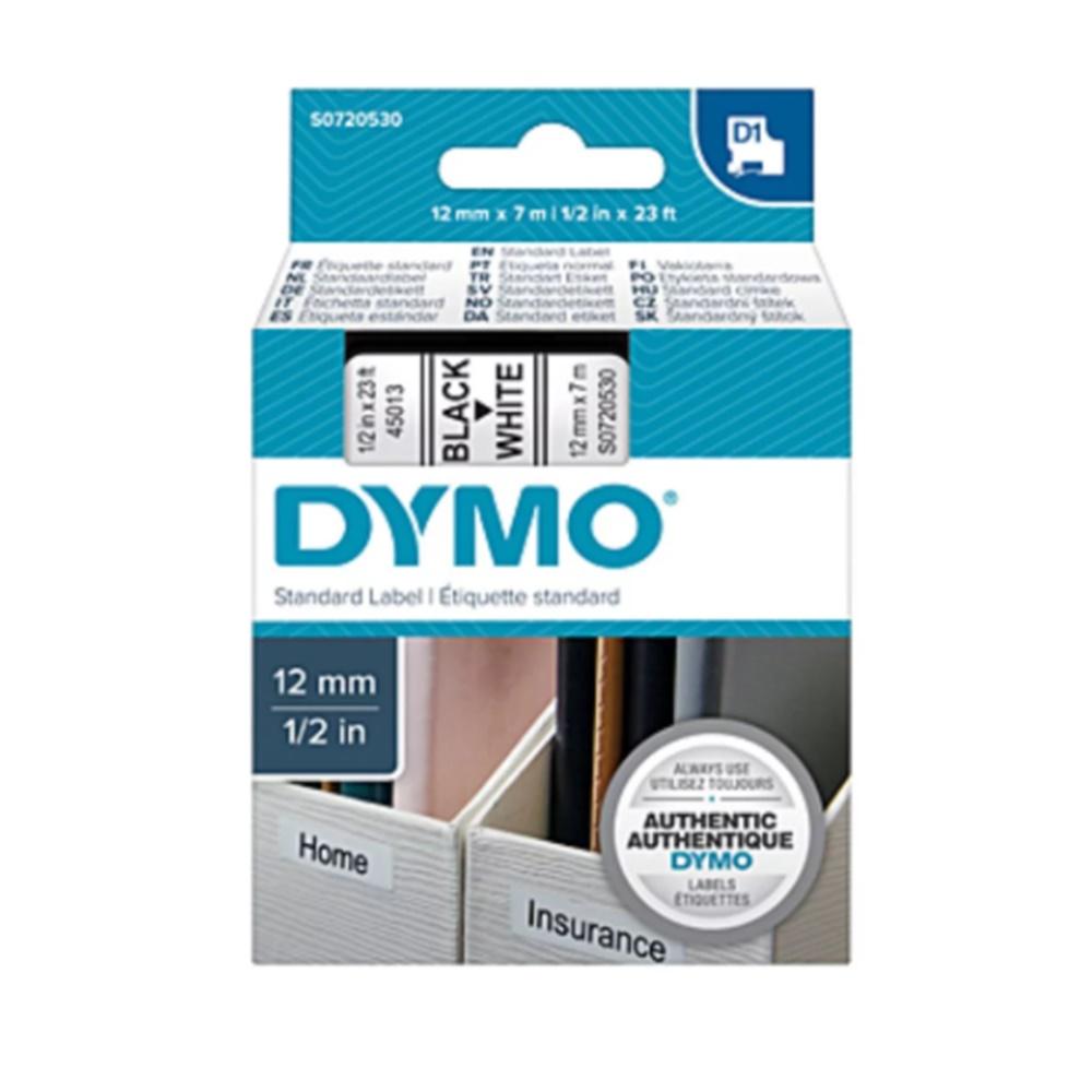 Nastro Dymo D1 standard 12mm x 7mt nero/bianco S0720530 - ELA 077814200