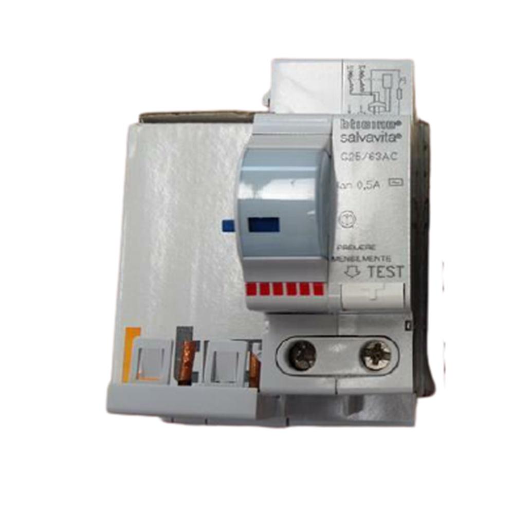 BLOCCO DIFFERENZIALE SALVAVITA AC 2P 40-63A 500MA - BTICINO LEGRAND G25/63AC