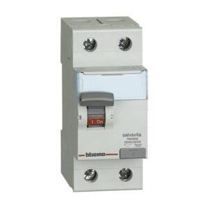 Interruttore magnetotermico differenziale per uso civile 4H AC 2P 25A 30MA - BTICINO LEGRAND G723H/25AC