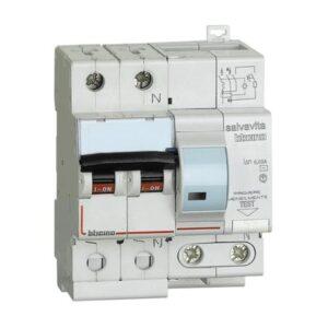 Interruttore magnetotermico differenziale per uso civile AC 1P+N 20A 4,5KA 30MA - BTICINO LEGRAND G8130/20AC