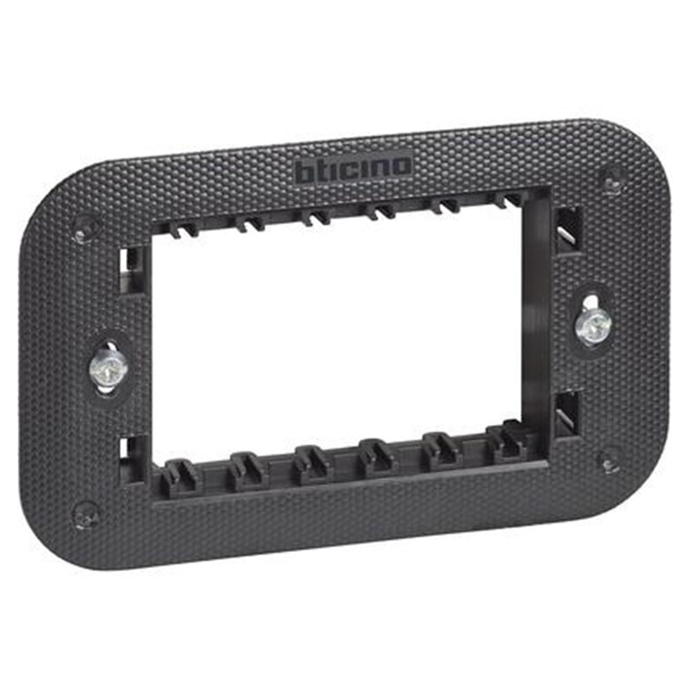 Supporto 3 moduli con valva di protezione Living Now - BTICINO LEGRAND K4703