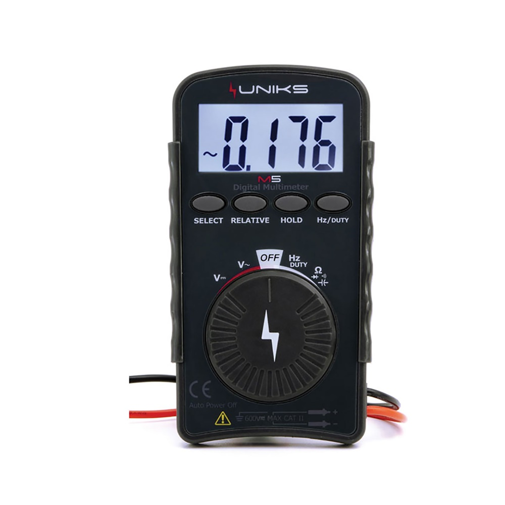 MULTIMETRO DIGITALE TASCABILE IEC/EN 61010-1 CAT III 300V - UNIKS SRL M5