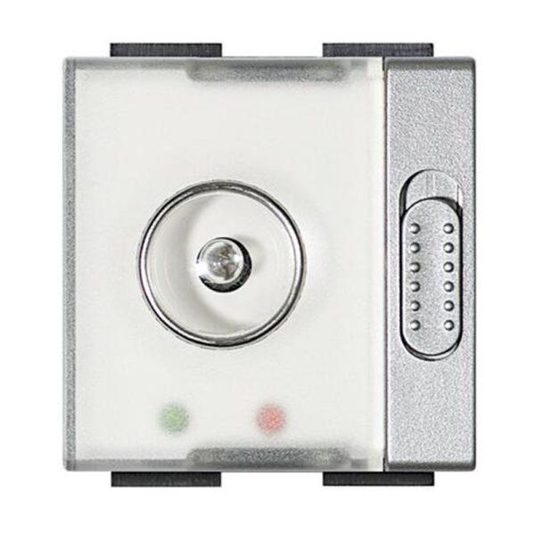 Torcia autonoma emergenza 230V 2 moduli grigio chiaro Living Light Tech - BTICINO LEGRAND NT4380