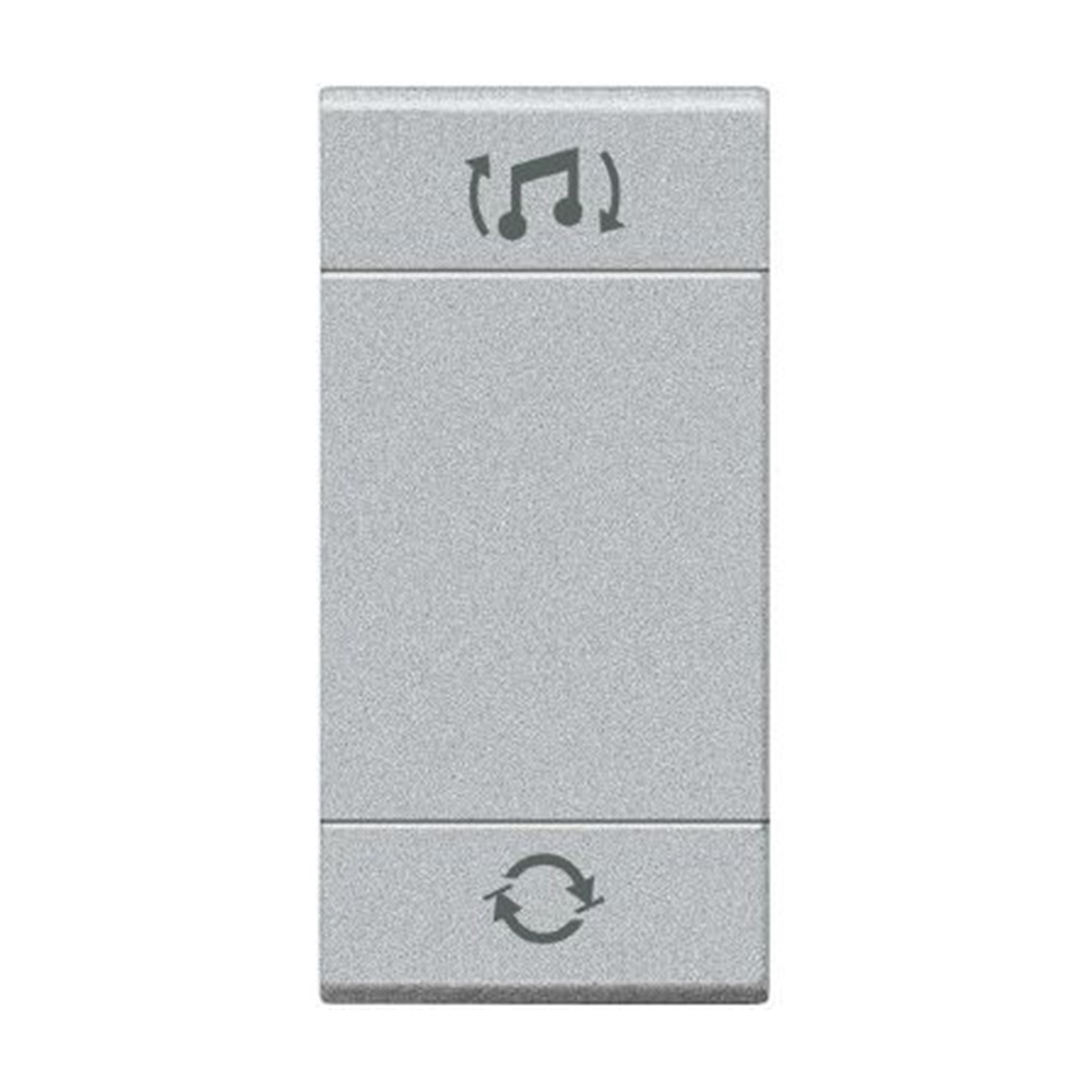 Copritasto a 2 funzioni con lente illuminabile diffusione sonora 1 modulo Living Light Tech - BTICINO LEGRAND NT4911BFN