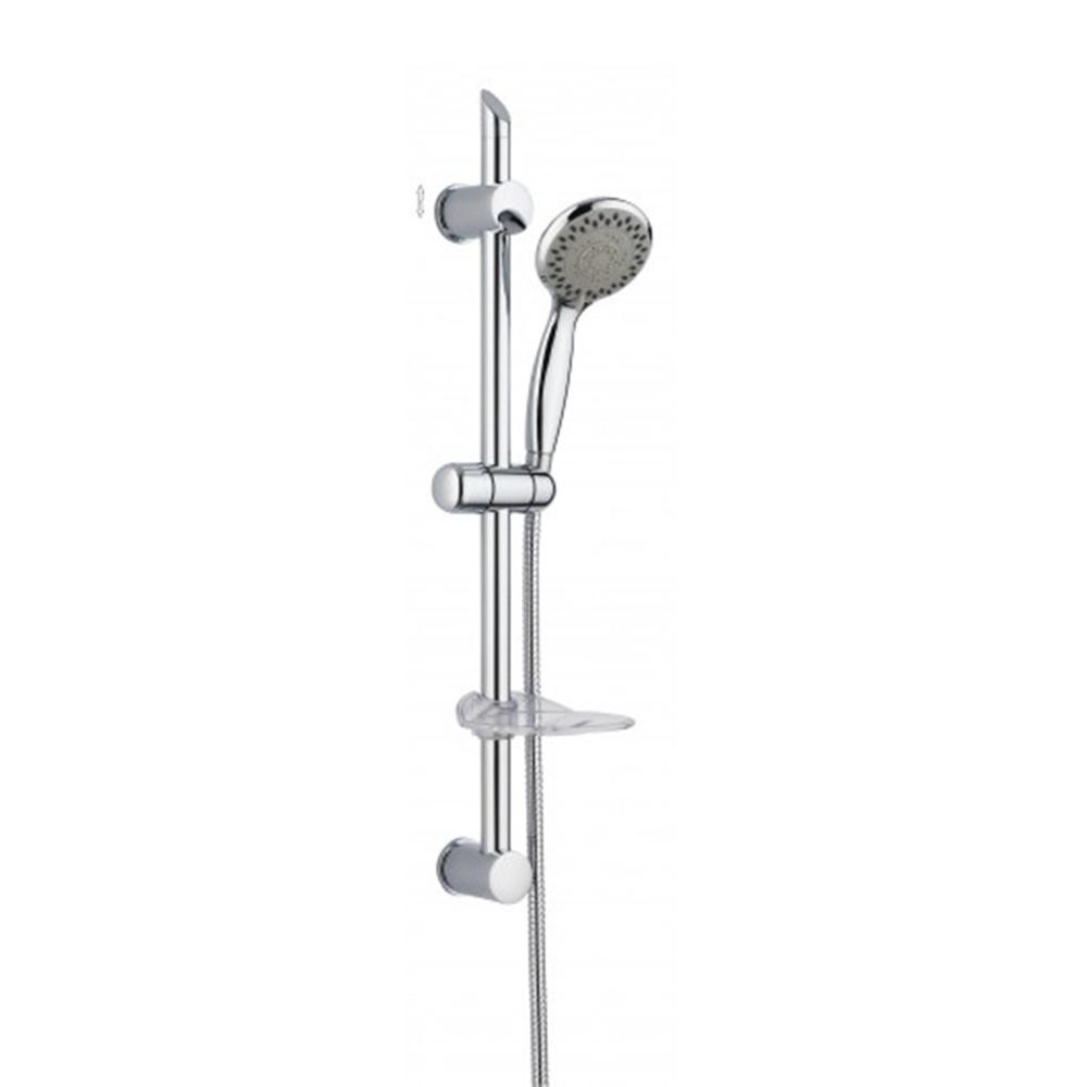 Set saliscendi per doccia completo di soffione 5 getti e portasapone - DAMAST SRL 12530