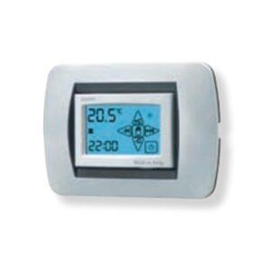 Cronotermostato digitale touchscreen display retroilluminato da installare in scatola 3 moduli Argento - GECA S.R.L. 35291738