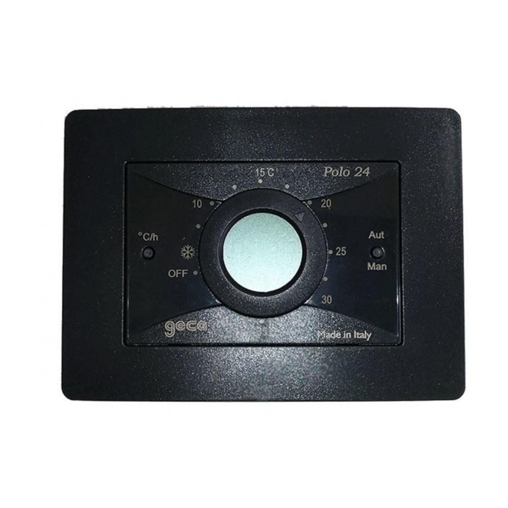 Cronotermostato a batterie giornaliero da parete ed incasso con display Polo 24 Antracite - GECA S.R.L. 35372160