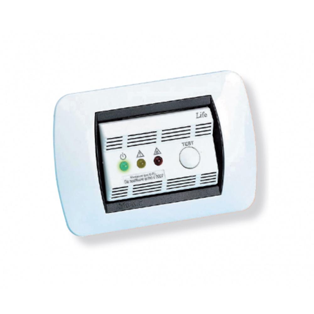 Rilevatore di fughe di gas GPL 230V LIFE bianco 3 moduli - GECA S.R.L. 36900681