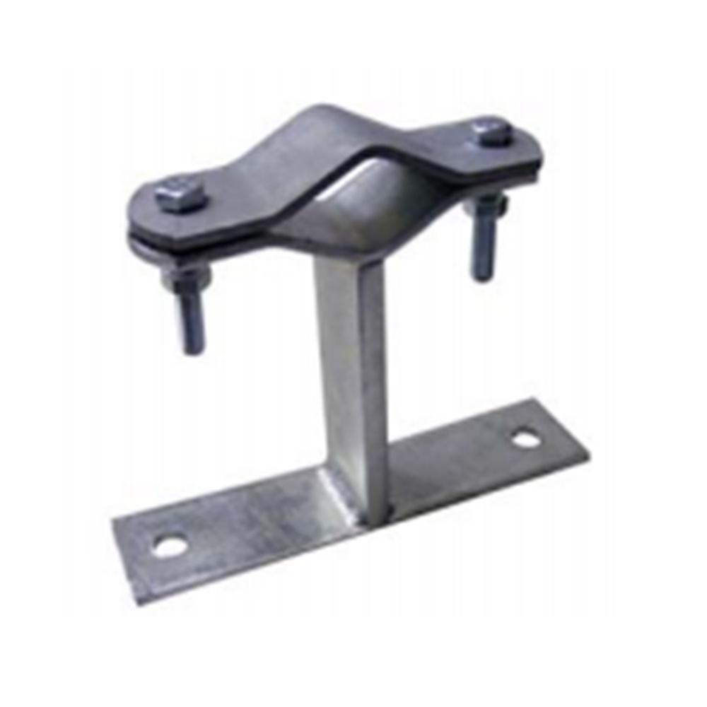 Zanca a muro in acciaio zincato 50mm per pali ø mm 25-60 - SEM 6114/5