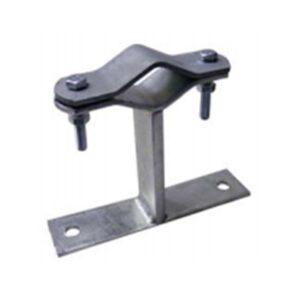 Zanca a muro in acciaio zincato 200mm per pali ø mm 25-60 - SEM 6114/20