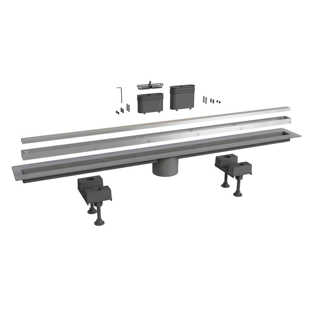 Scarico pavimento laterale alluminio 120 cm - BONOMINI SRL 6825AL120S