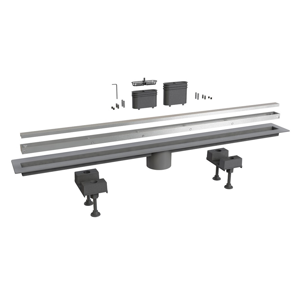 Scarico pavimento laterale alluminio 80 cm - BONOMINI SRL 6825AL80S