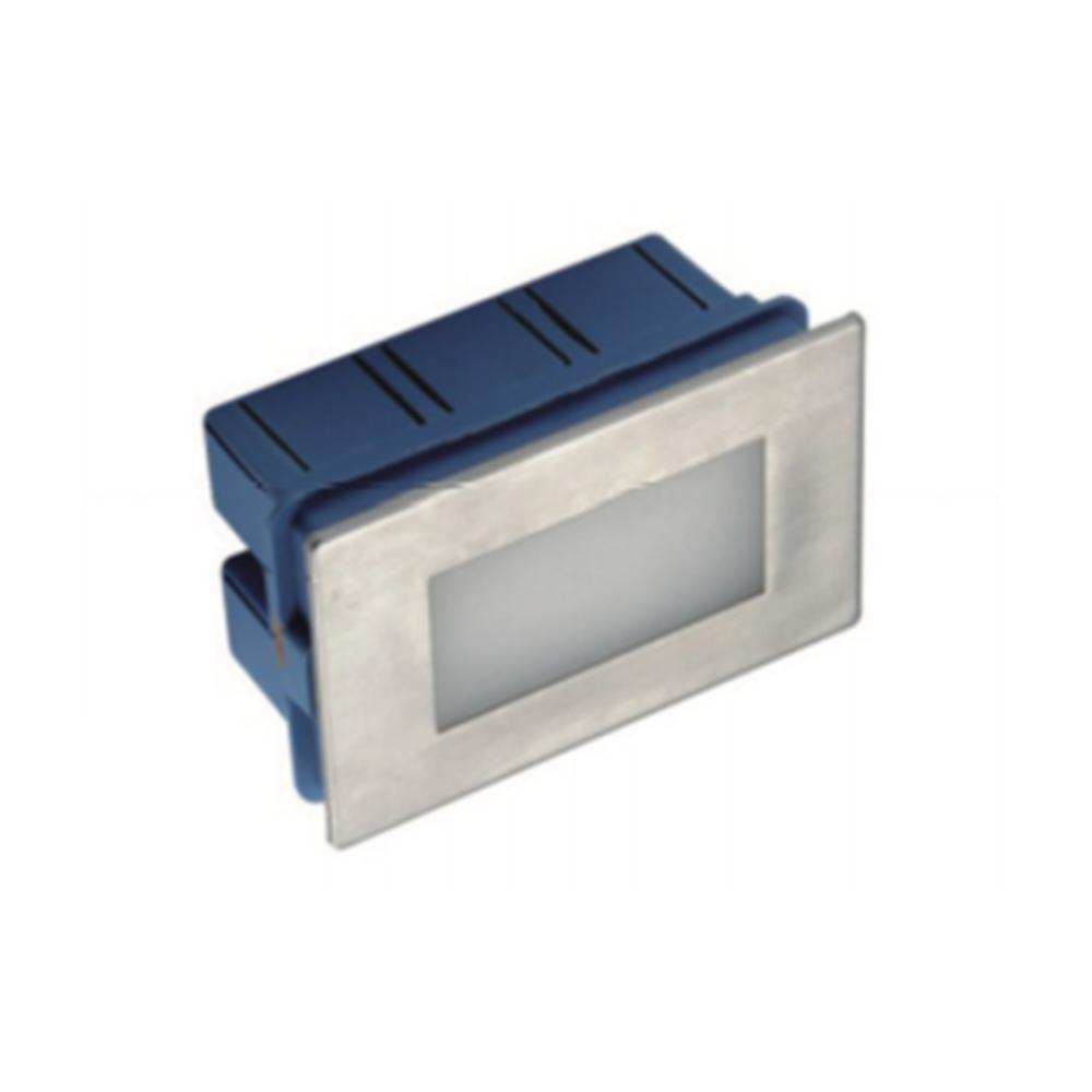 Faretto segnapasso LED per cassetta 503 1W rettangolare da Incasso per esterno e interno IP65 107x51x67mm Luce Naturale 4000K - GIGRA LINE FG07001/840