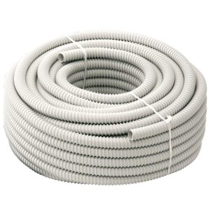 Tubo Guaina Spiralata Flessibile Isolante Ondulata in Pvc per impianti elettrici TFG14 Diametro 14 mm 1 metro - ELETTROCANALI TFG14
