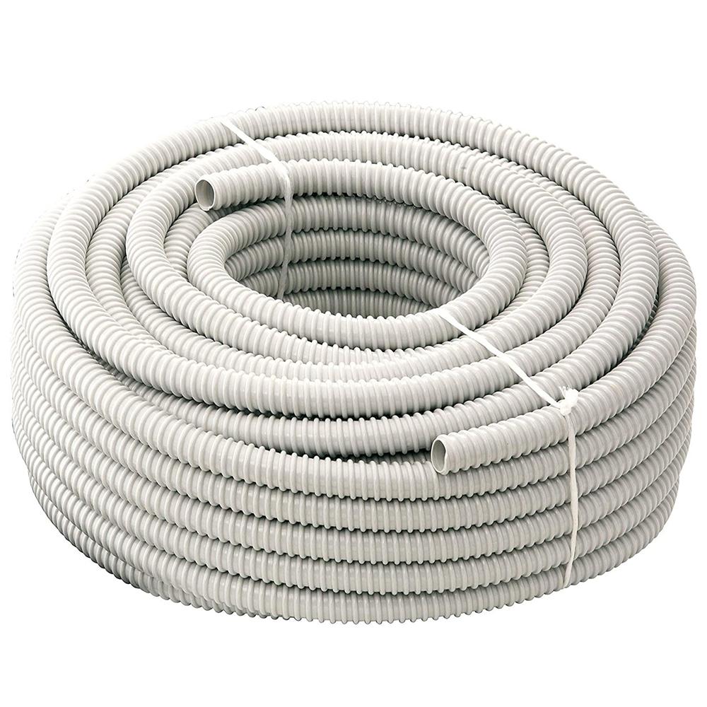 Tubo Guaina Spiralata Flessibile Isolante Ondulata in Pvc per impianti elettrici TFG16 Diametro 16 mm 1 metro - ELETTROCANALI TFG16