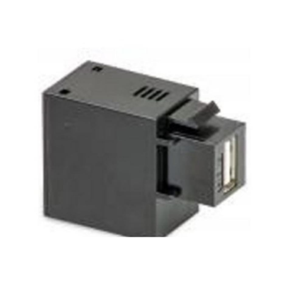 PRESA KEYSTONE USB 5V2,1A NERA - KIT GIGRA LINE USB345/2.1A