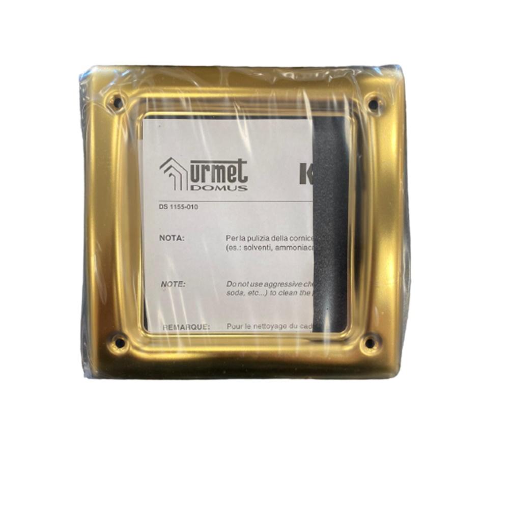 Cornice PVD colore ottone 1 Modulo Urmet - URMET 1155/84