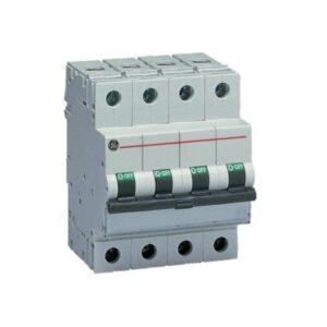 Interruttore Magnetotermico 4P 50A Curva C 6kA 4m General Electric 672114 - COD. HERD672114