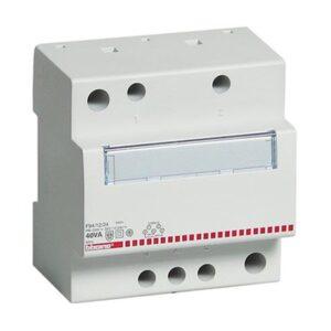 Trasformatore di sicurezza monofase 230/12/24V SELV 25VA - BTICINO LEGRAND F93/12/24