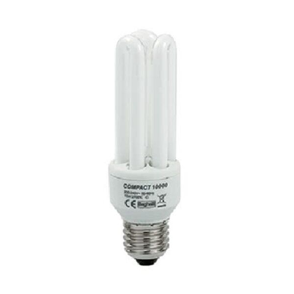 Lampadina Fluorescente Compatta E27 2700K 11W Tubi T4 Bianco calda - BEGHELLI 50201