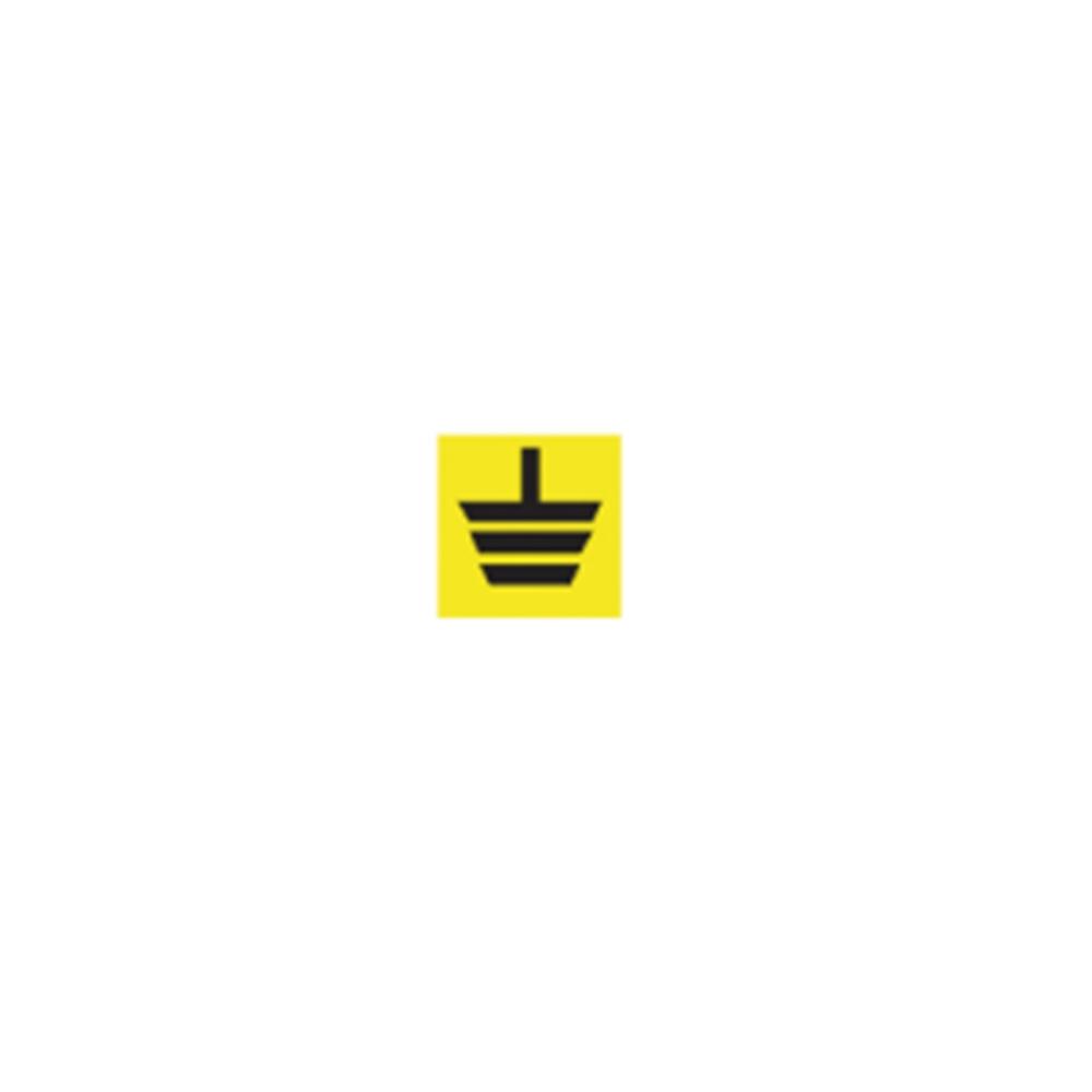 Etichetta Segnale obbligatorio: punto di messa a terra D.10 (49 x Foglio) - ITW 1911120