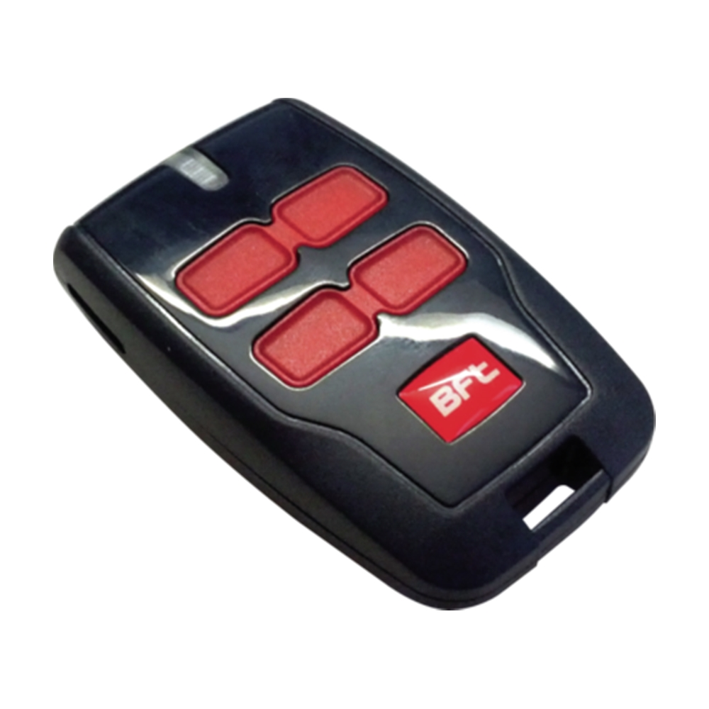 Trasmettitore copiabile a 4 canali. Portata 50/100M Alimentazione 12 V - BFT D111907