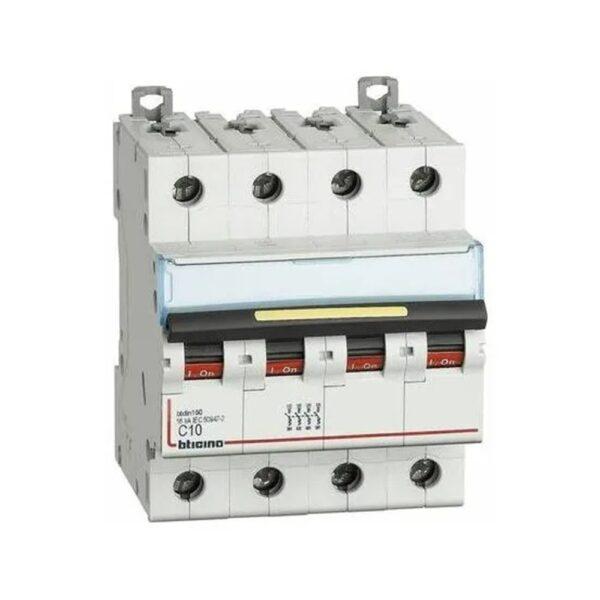 Interruttore Automatico Magnetotermico 4 Poli 10A 1000K EP100 - COD. HERD672313