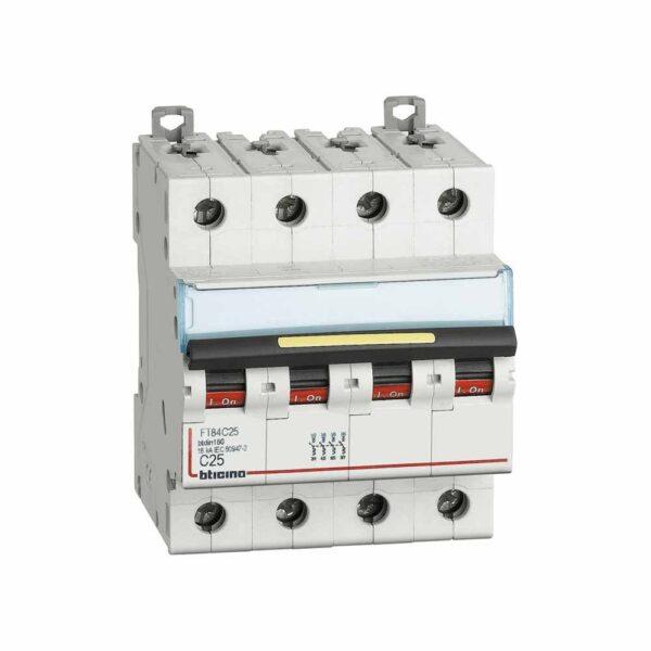 Interruttore Magnetotermico 4 Poli C25 2M 4500K - COD. HERD692551