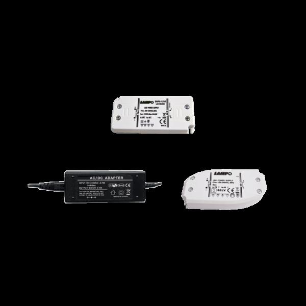 Converter LED Tensione Costante 230-12/24V per uso interno - LAMPO SNC LS24/100W