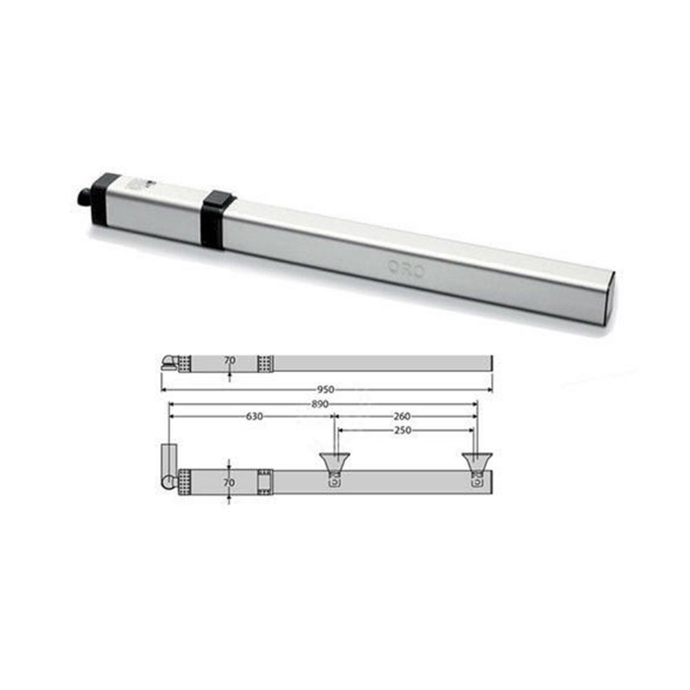 Motoriduttore Oleodinamico Irreversibile per Ante a battente - BFT P935059 00001